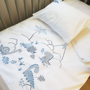 Egyptian Cotton Dinosaurs Cot Duvet Cover Set