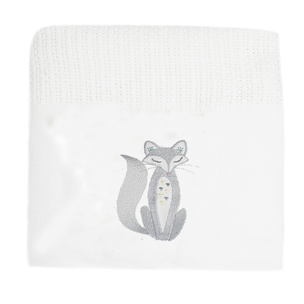 Fox Cellular Cotton Baby Blanket