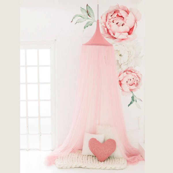 Hanging Canopy Tent - Netting Vintage Pink