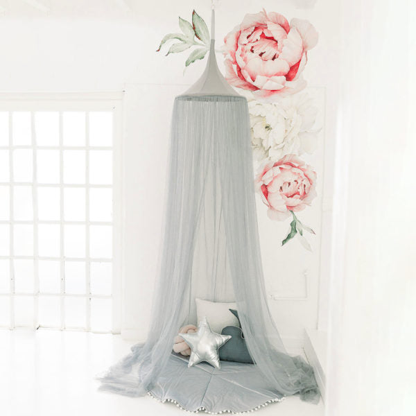 Hanging Canopy Tent - Netting Grey