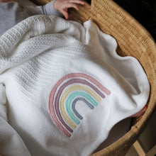 Load image into Gallery viewer, Rainbow Cellular Cotton Baby Blanket