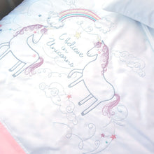 Load image into Gallery viewer, Egyptian Cotton Unicorn Cot Duvet Cover Set
