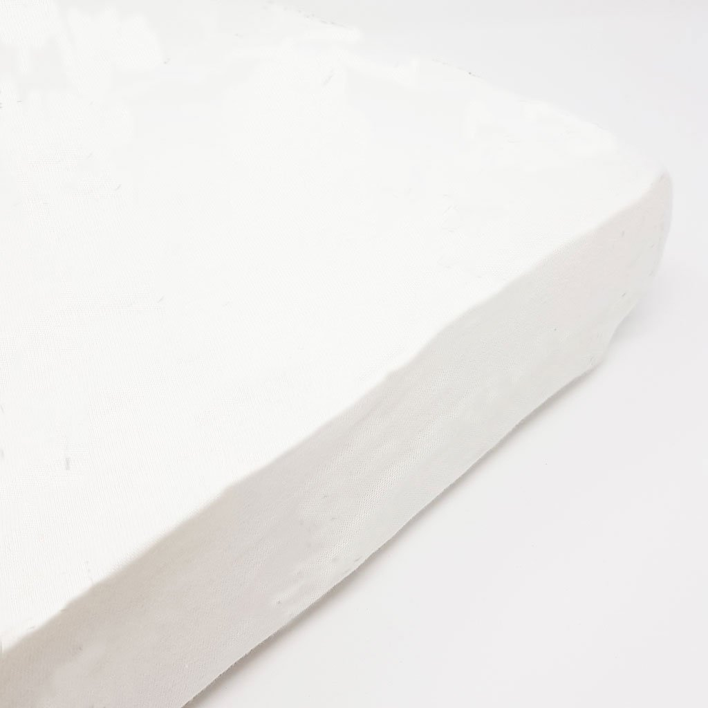 100% Cotton Fitted Sheet-White
