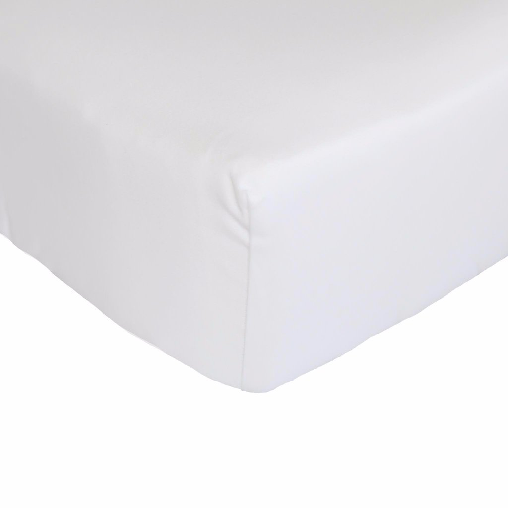 Egyptian Cotton Cot Fitted Sheet - White