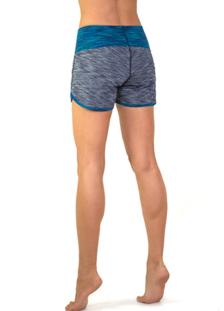 Turquoise stretch board short style gym shorts by Something Like That
