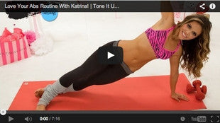 Whittle away your abs with this workout by Tone it up!