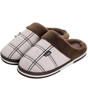 Chaussons  doux en peluche antidérapant - Ref : G2YG147G