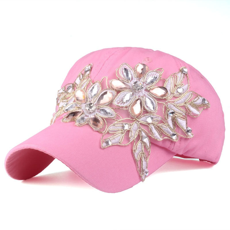 Casquette Glamour Floral Diamond - Ref : UD26MJ18