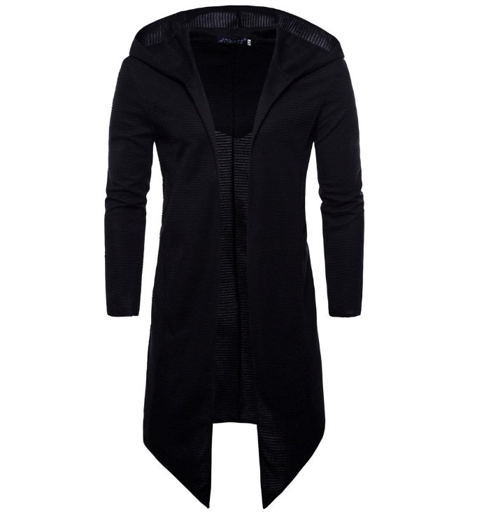 2019 Printemps Manteau À Capuchon Long Cardigan Manteau Nouvelle Europe et en Amérique Du Long Coupe-Vent Manteau Manteau Chandail Tricoté Grande Taille 5XL