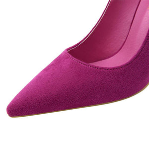 Escarpins Femmes Taillons Aiguille Bout Pointu - yellow office heels / 10