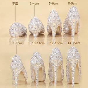 Chaussure Crystal Cendrillon - Ref : 44XNW9Y34 - flap / 33