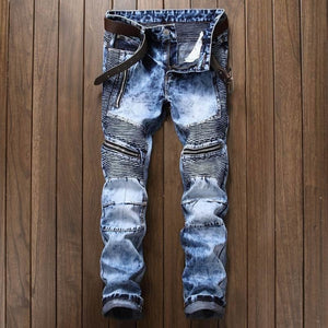 Jean Tendance Graffiti Denim Street Hip Hop - Ref : J016MOR12
