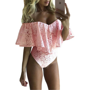 Mini Body Florale dentelle - Ref : EB20963PL - Pink / S