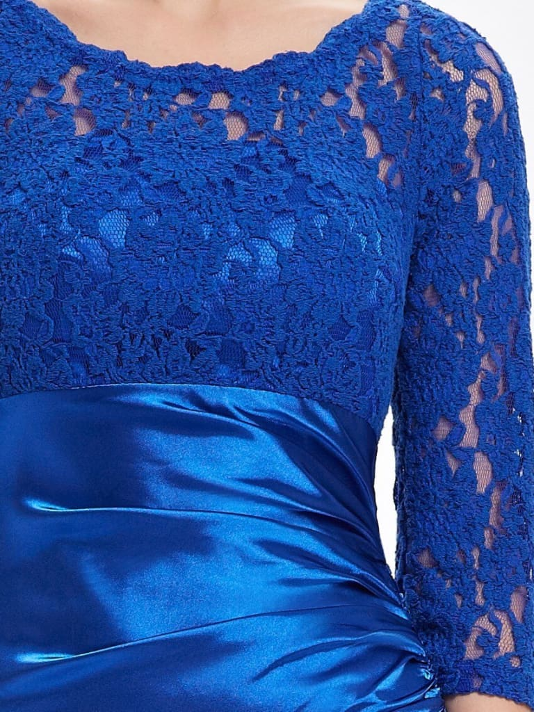 a close up of a person wearing a blue shirt