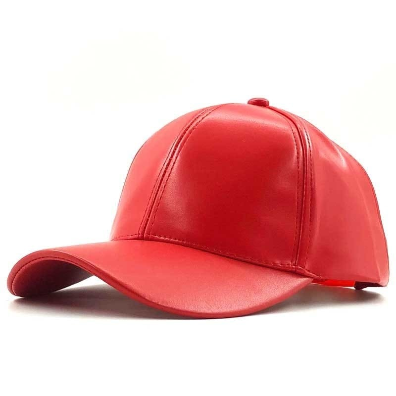 a red and white hat