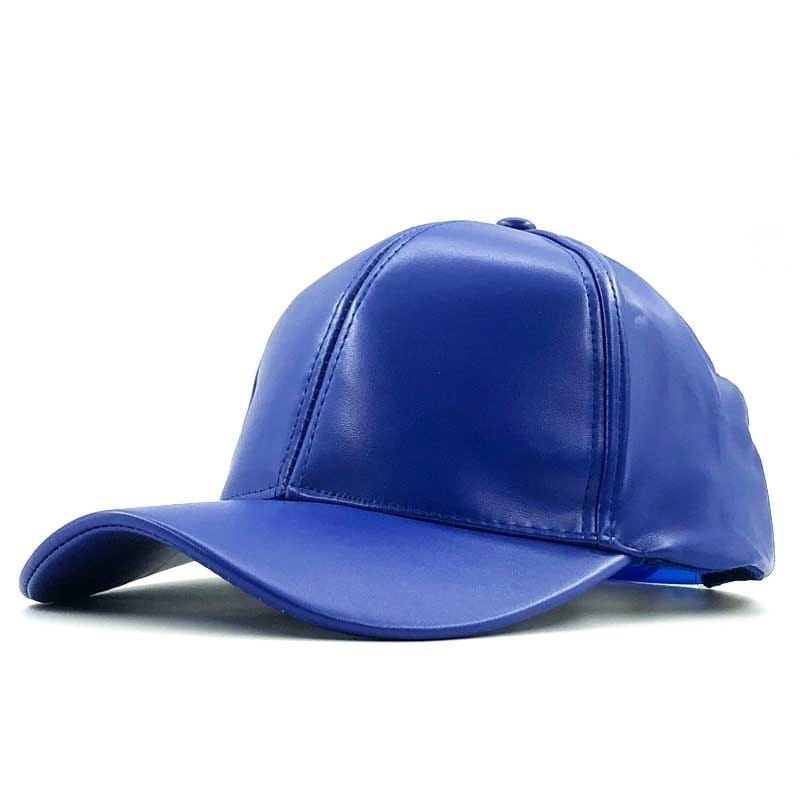 a blue and white hat