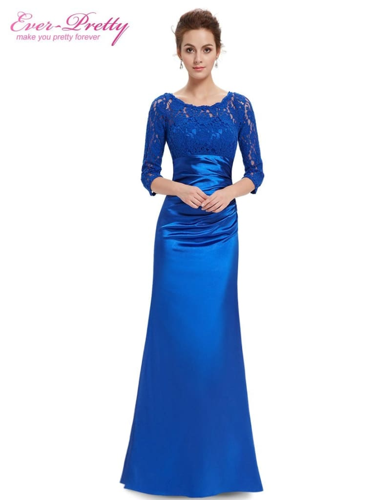 a person in a blue dress