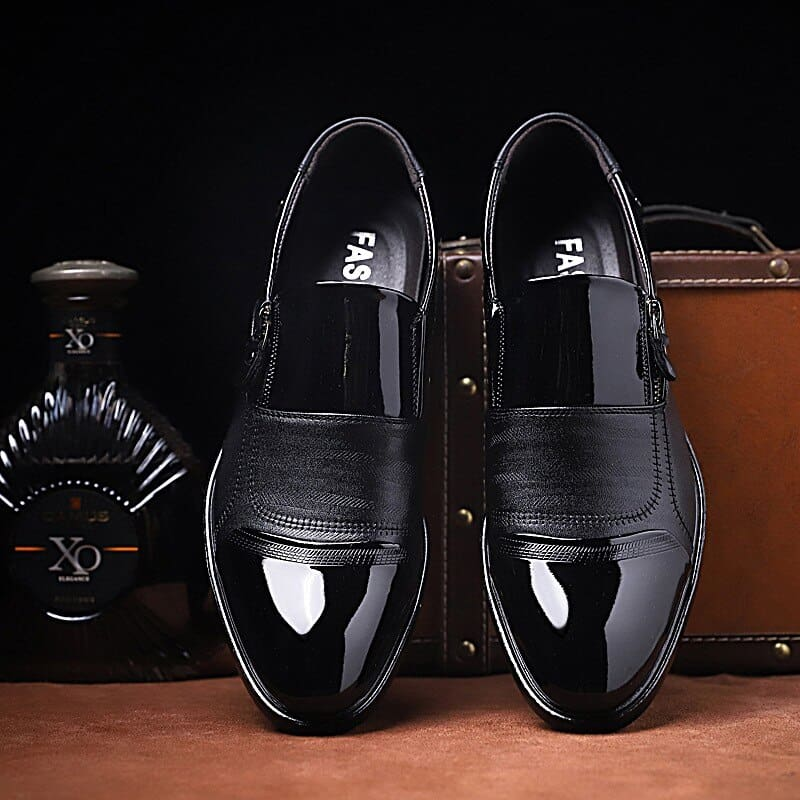 a pair of black shoes