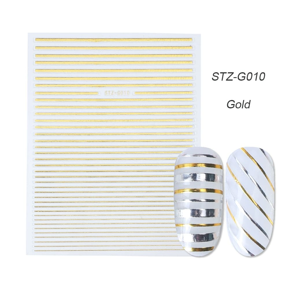 gold silver 3D stickers STZ-G010 gold