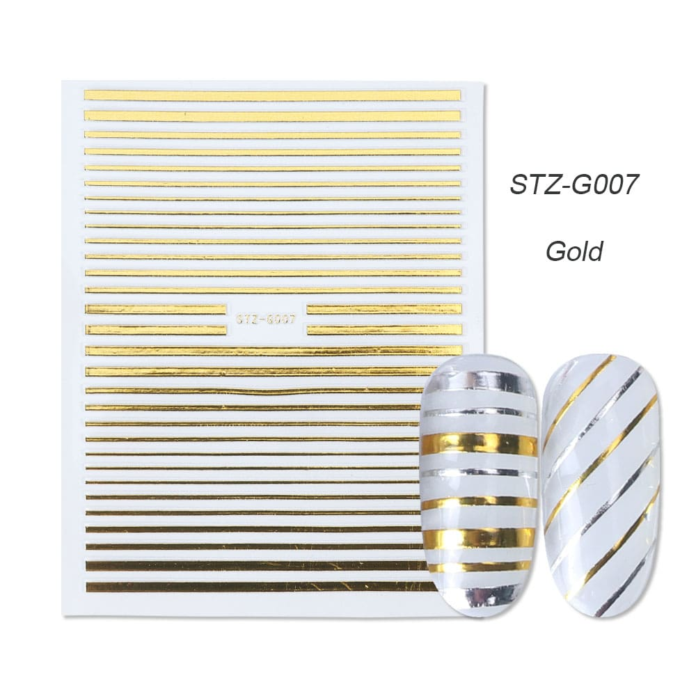 gold silver 3D stickers STZ-G007 gold