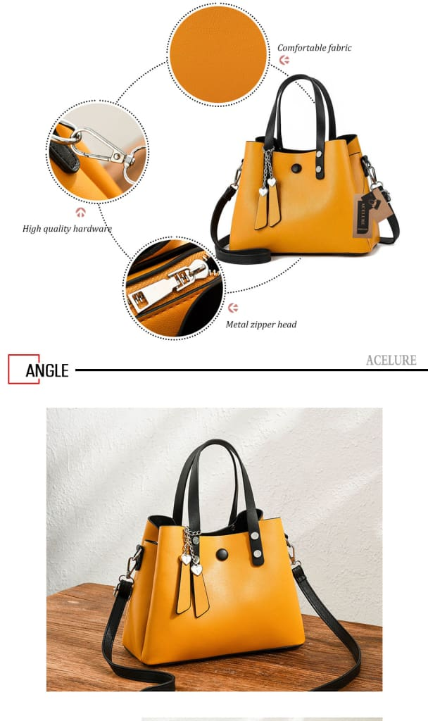 a black and yellow bag