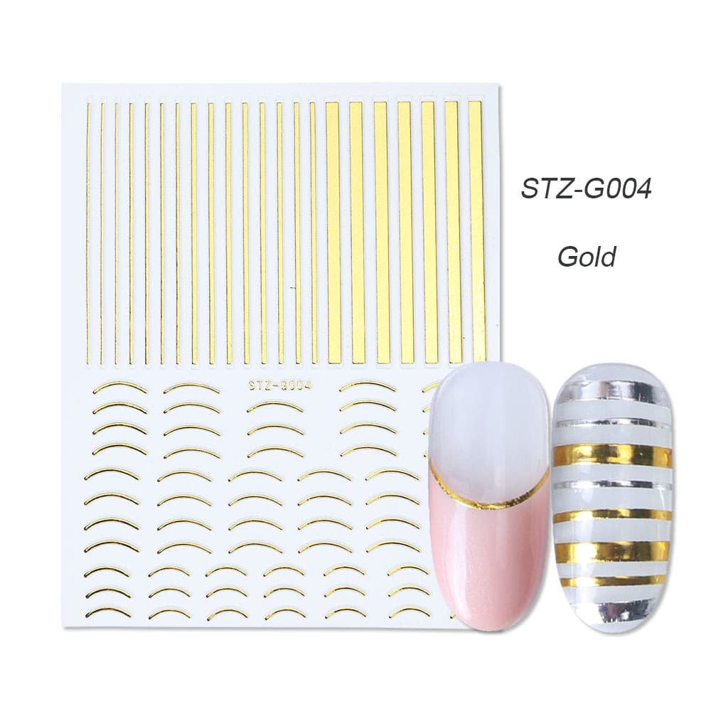 gold silver 3D stickers STZ-G004 gold