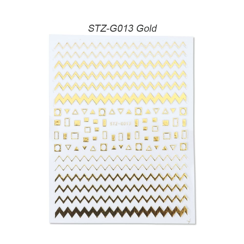 gold silver 3D stickers STZ-G013 Gold