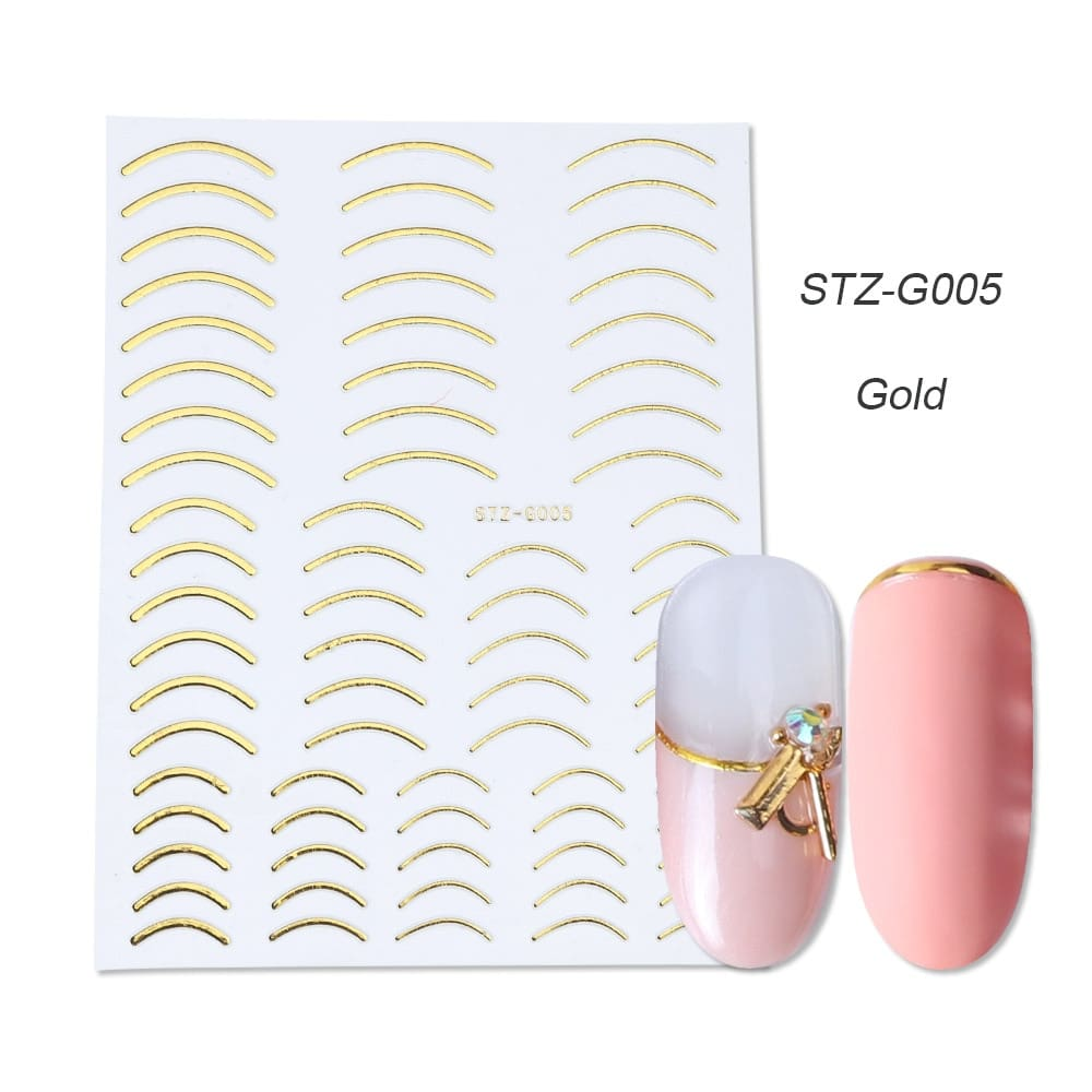 gold silver 3D stickers STZ-G005 gold