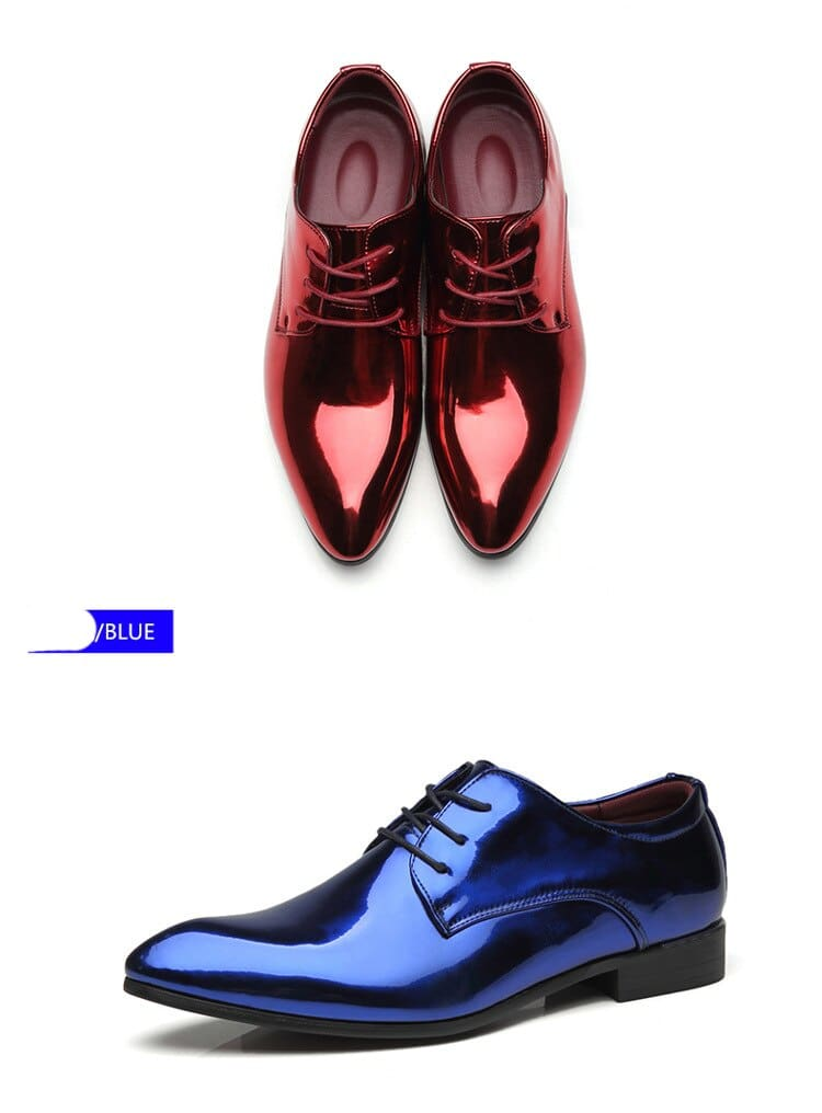 a red white and blue shoes