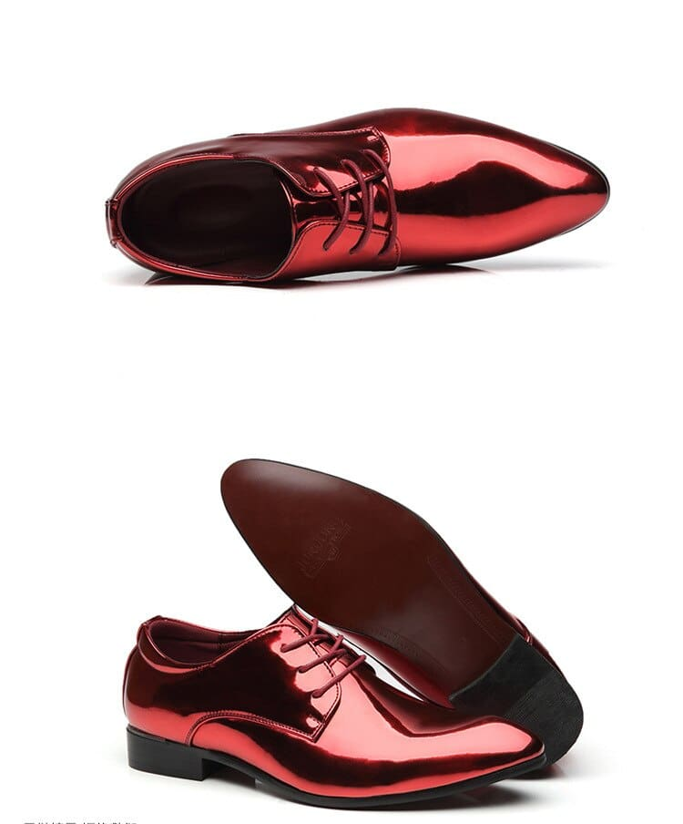 a red and black shoes