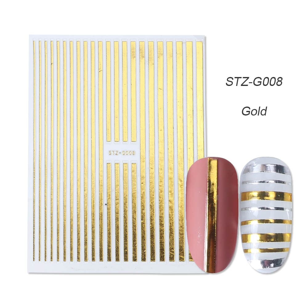 gold silver 3D stickers STZ-G008 gold