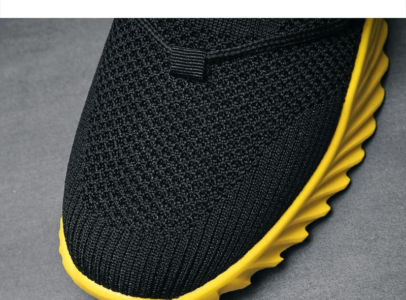 a black and yellow object