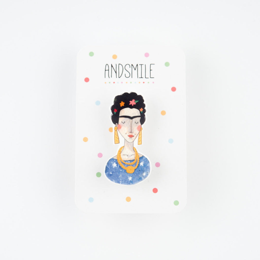 And Smile Studio Brooch - Frida Kahlo