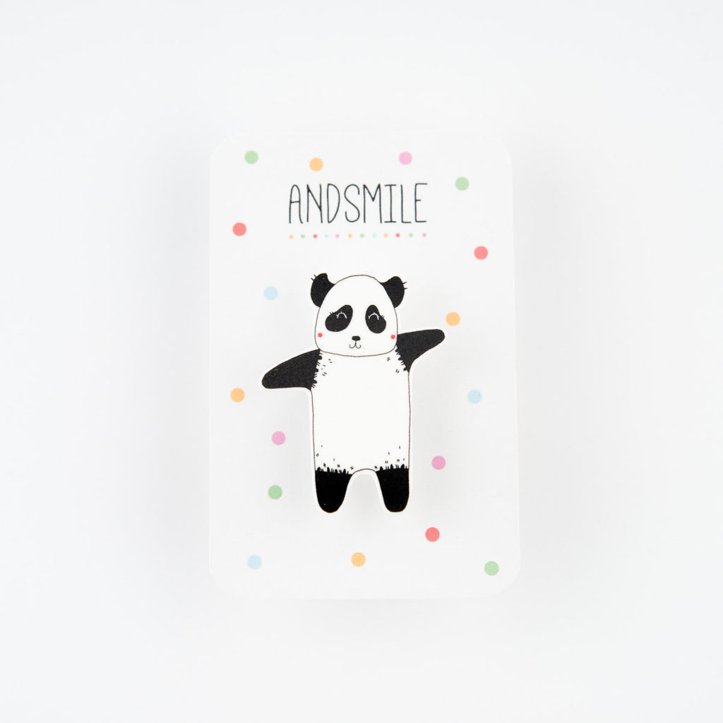 And Smile Studio Brooch - Panda