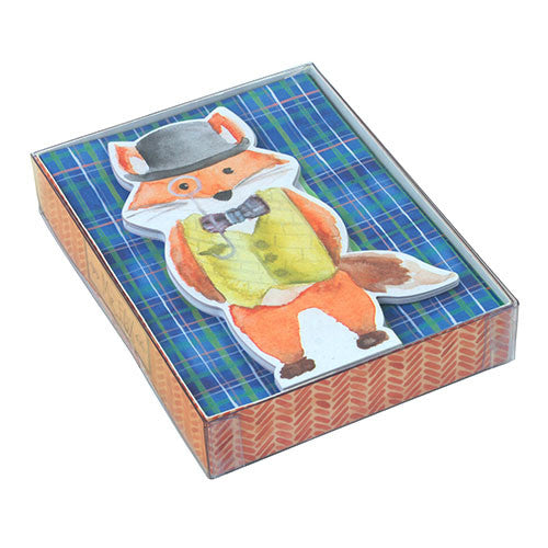 Diecut Notecards - Mr Fox