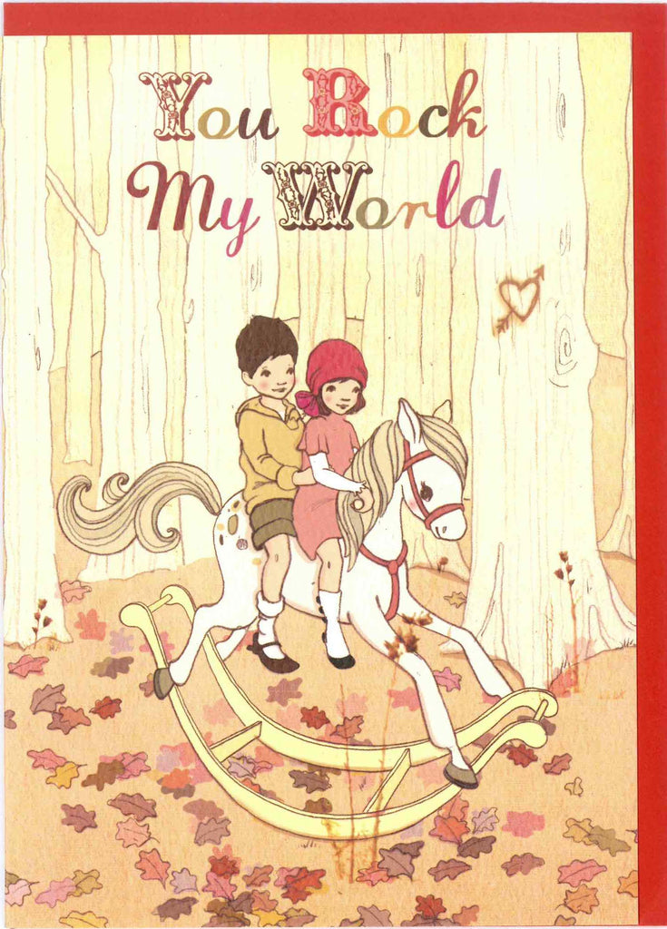 "Belle and Boo ""You Rock My World"" Card"