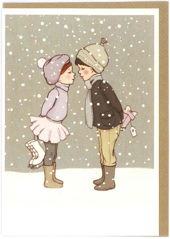"Belle and Boo ""Winter Kiss"" Card"