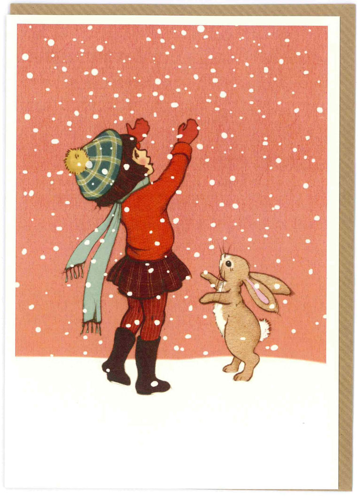 "Belle and Boo ""Catching Snow"" Card"