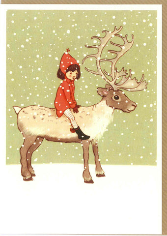 "Belle and Boo ""Me & My Reindeer"" Card"