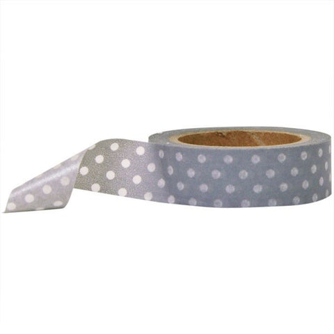 Washi Tape - Polka Dot Gray