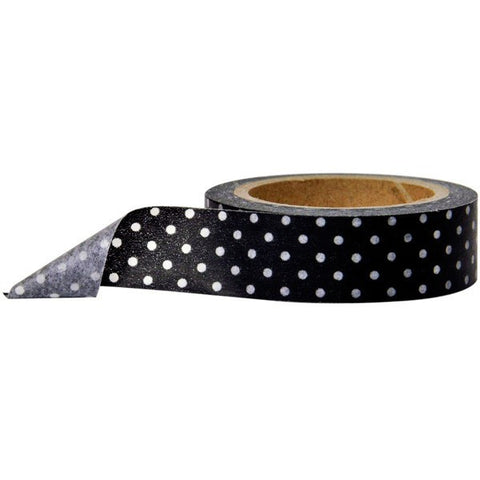 Washi Tape - Polka Dot Midnight Black