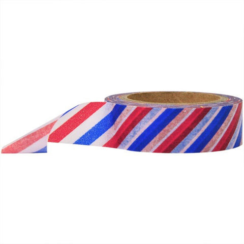 Washi Tape - Diagonal Stripe Air Mail