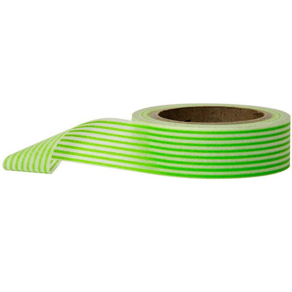 Washi Tape - Stripes Horizontal Green