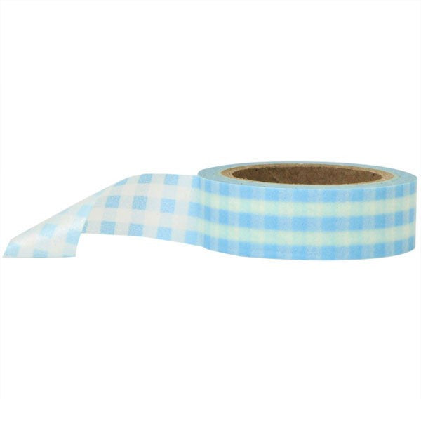Washi Tape - Gingham Blue and White
