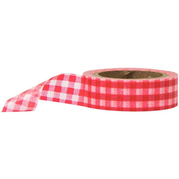 Washi Tape - Gingham Red and White