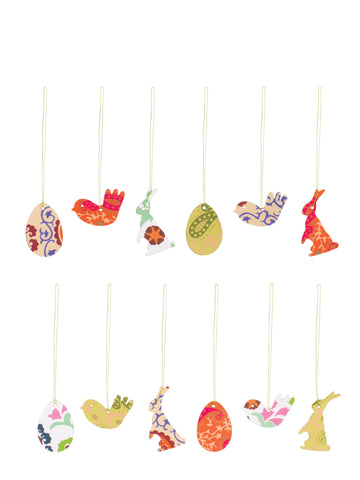 Maileg Easter Paper Ornaments, assorted 12 styles