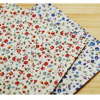 Vintage Floral Fabric Sticker - Red or Violet