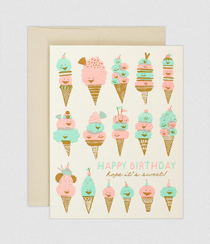Hello Lucky Happy Ice Creams card