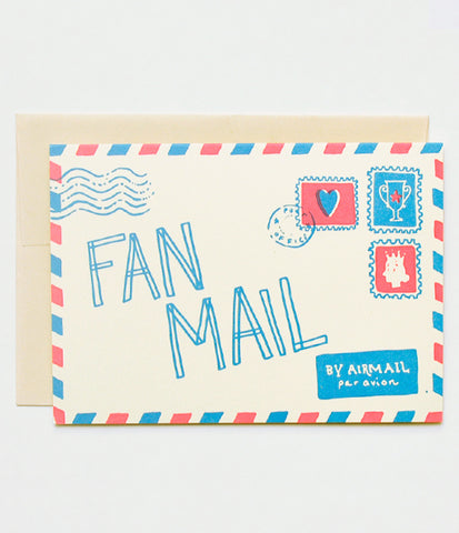 Hello Lucky Fan Mail Card