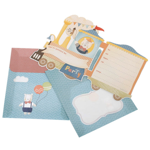 hiPP Steam Train Invitation Kit